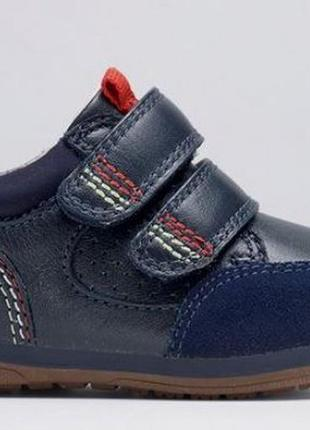 Кожаные закрытые туфли кроссовки ботинки next navy first walke...