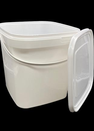 Набор пластиковых пищевых ведер Sirin Plastik 12 литров 3 штуки