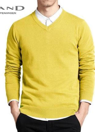 Шерстяной мужской свитер с v - образным вырезом, джемпер sand ...