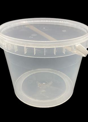 Набор пластиковых пищевых ведер Alliance Plast 2300 мл 10 штук