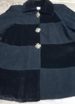 Стильное винтажное полу пальто, разлетайка, пончо лен+кашемир