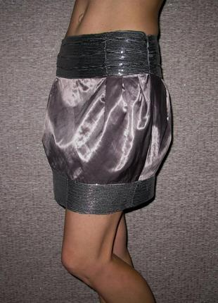 Нарядная юбка (пайетки) river island xs-s-m
