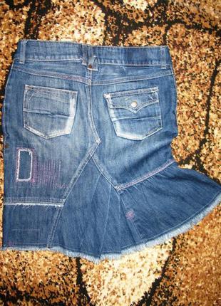Оригинальная джинсовая юбка h&m р. s