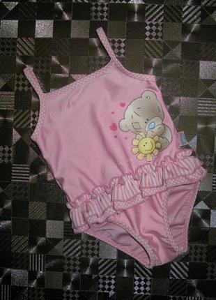 Хорошенький купальник мишка teddy с юбочкой 6-12мес m&s