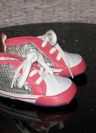 Красивейшие нарядные коралловые серебряные пинетки ботинки кро...