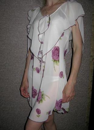 Красивый нежный и воздушный пеньюар, ночная сорочка (ночнушка)