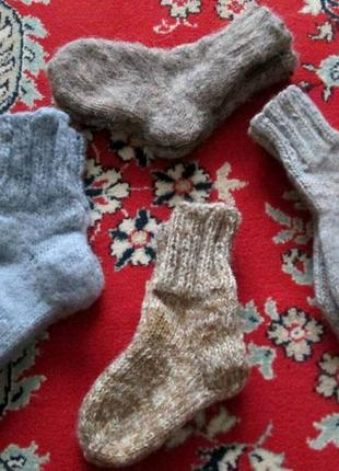 Вязаные шерстяные носки с добавлением пуха 12см