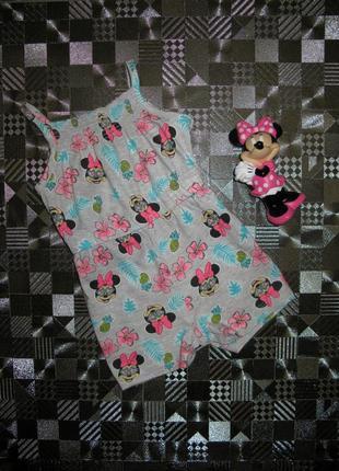 Хлопковый ромпер песочник платье боди disney minnie mouse 3-6мес