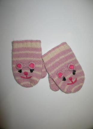 Симпатичные варежки рукавицы рукавички на малышку  monsoon 1-2...