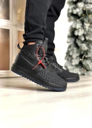 Черные демисезонные кроссовки nike air force 1 duckboot