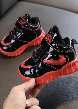 Кроссовки утеплённые мех ботинки