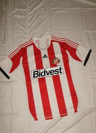 Фирменная футбольная футболка climacool adidas sunderland afc