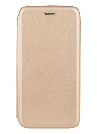 Чехол-книжка кожа Lenovo K5 Pro Цвет Золотой