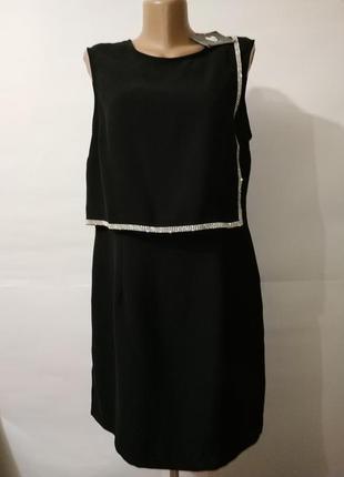 Платье футляр со стразами новое элегантное uk 14/42/l