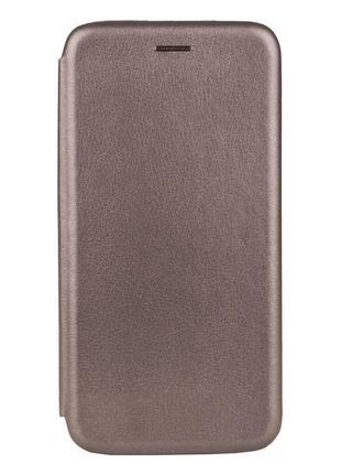 Чехол-книжка кожа Lenovo K5 Pro Цвет Серый