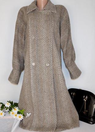 Брендовое демисезонное твидовое пальто с карманами jutranjka ш...