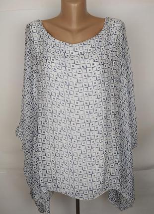 Блуза шелковая стильная в орнамент италия uk 14/42/l
