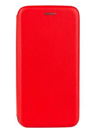 Чехол-книжка кожа Lenovo K5 Pro Цвет Красный