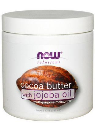 Масло какао с маслом жожоба Нау Фудс / Now Foods Cocoa Butter ...