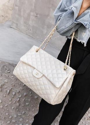 Сумка большая женская стиль chanel шанель стеганая сумочка на ...