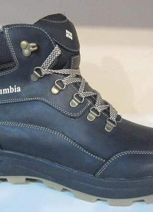 Мужские кожаные зимние ботинки/кроссовки