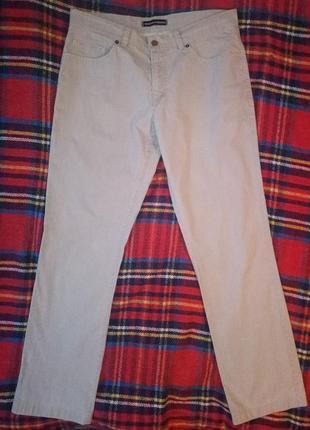 Брюки чинос летние мужские серые джинсовый пошив ровные