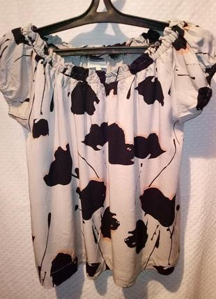 Блузка -футболка на резинке, рукава фонарики