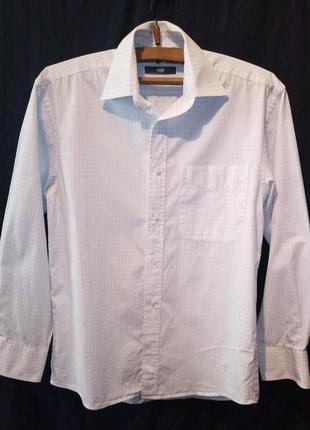 Рубашка мужская классика ровная клетка