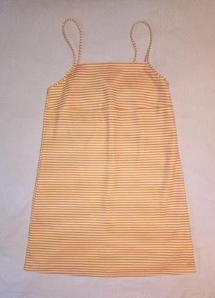 Платье мини летнее в полочку  трапеция