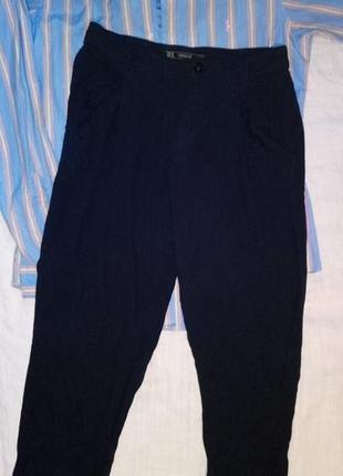 Темно синие бананы брюки женские