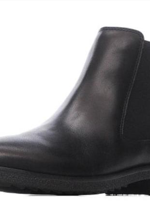 Челси ботинки женские кожанные черные демиссизонные