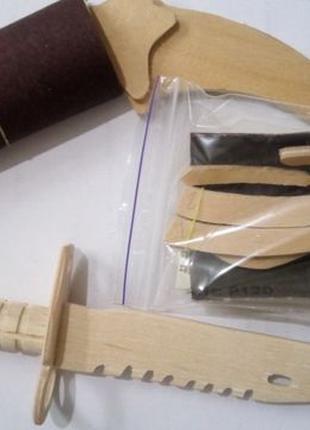 Конструктор керамбит бабочка игрушка сувенир подарок штык нож М9