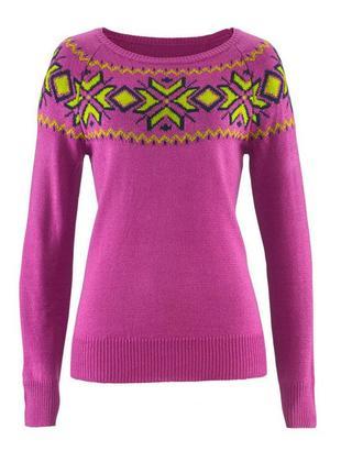 Джемпер пуловер с норвежским узором