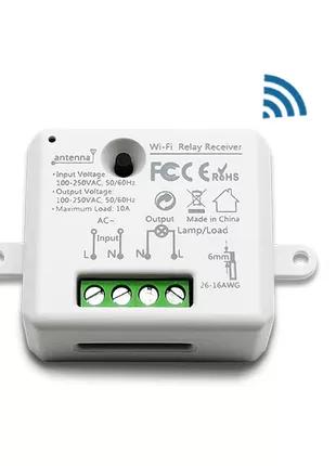 Миниатюрный WiFi выключатель Tuya Smart Life 10A 100-250V реле