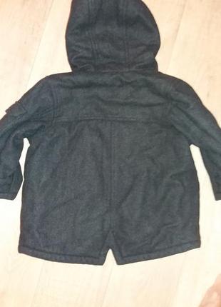 Теплое шерстяное пальто на 2-3года