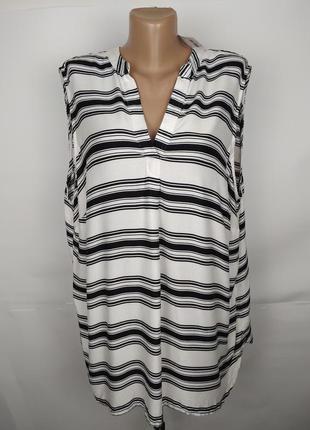 Блуза новая стильная натуральная большого размера f&f uk 22/50...