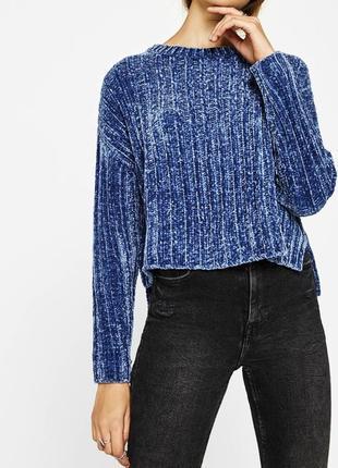 Бархатный, велюровый свитер, джемпер оверсайз от bershka