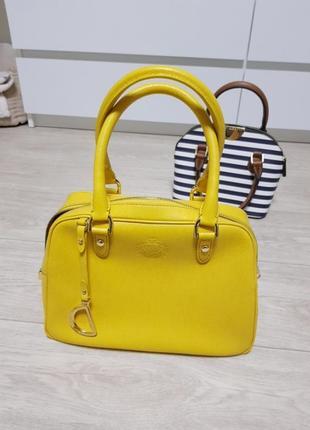 Кожаная сумка ralph lauren оригінал