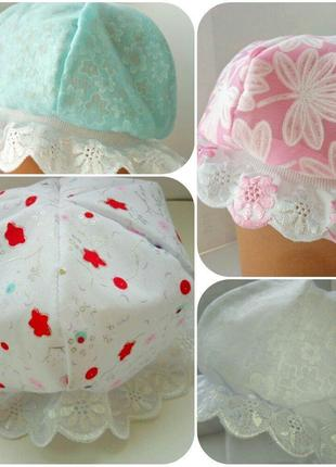 Шапочка для новорожденных,чепчик для младенцев, панамка,медуза