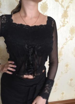 Модная блуза. топ.  кружево. гипюр. сетка