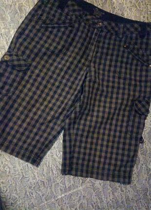 Мужские шорты в клетку, карго.