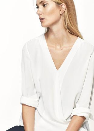 Очень красивая стильная белая блуза