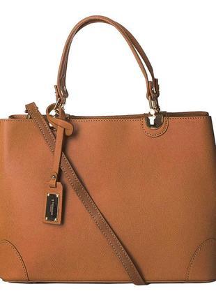 Trussardi кожаная сумка италия maretto