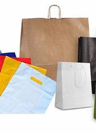 Бумажные пакеты, пакеты крафт, полиэтиленовые пакеты.