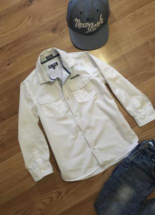 Стильная рубашка на 5-6-7 лет не секонд! + 2 рубашка в подарок!