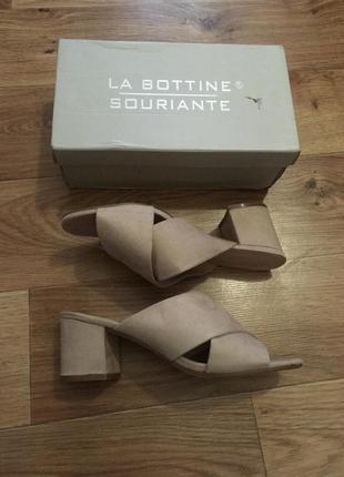 Новые замшевые сабо la bottine souriante рр 39-40