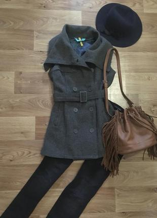 Срочно! переезд!тренд 2020 стильное пальто жилетка от ichi рр ...