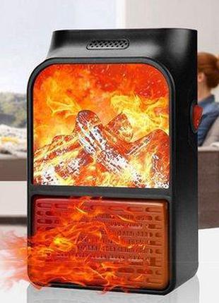 Портативный обогреватель с пультом Flame Heater (1000 Вт) Экон...