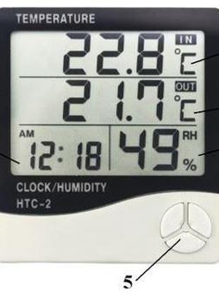 Домашняя метеостанция HTC-2 термометр