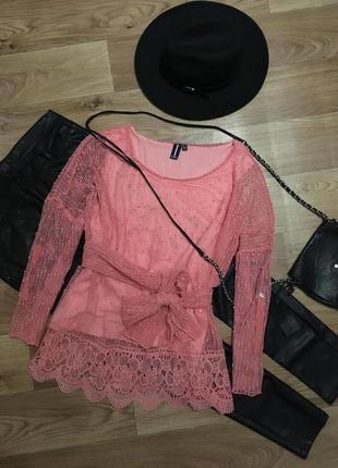 Kружевная кофта блуза от izabel рр l-xl